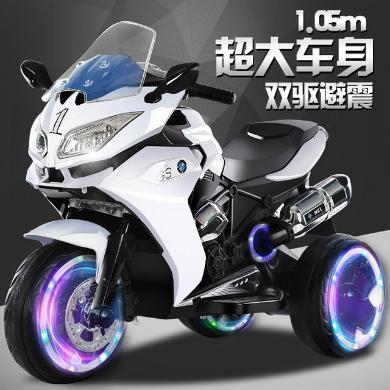 加大號兒童電動摩托車3-6-9歲小孩電動三輪寶寶充電玩具可坐雙人