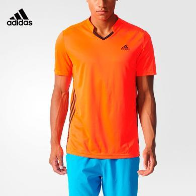 阿迪達斯 Adidas 短袖T恤男夏季運動polo衫休閑羽毛球服S90086