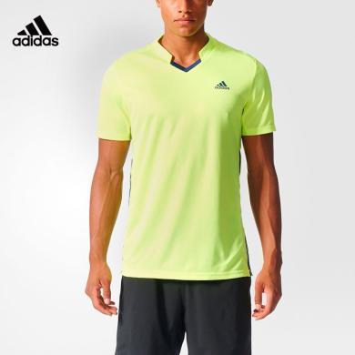 阿迪達斯 Adidas 短袖T恤男夏季運動polo衫休閑羽毛球服S90085