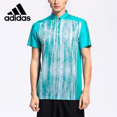 阿迪達斯 Adidas 短袖T恤男夏季運動polo衫休閑羽毛球服AC5015