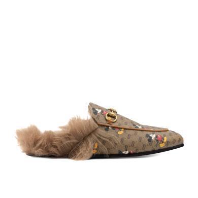 [支持購物卡](預售)GUCCI/古馳 Disney x 迪士尼聯名款Gucci Princetown系列女士GG拖鞋(拍下之日起預計10至20個工作日內寄出)