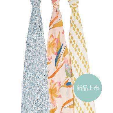 aden+anais嬰兒多功能襁褓包巾寶寶紗布蓋被抱毯蓋毯竹棉