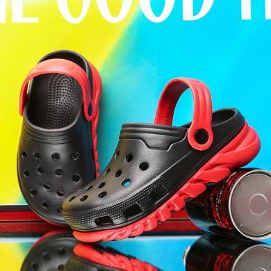 儿童拖鞋2020夏季韩版两穿洞洞鞋男童女童防滑中大童学生沙滩鞋子 ZY1919