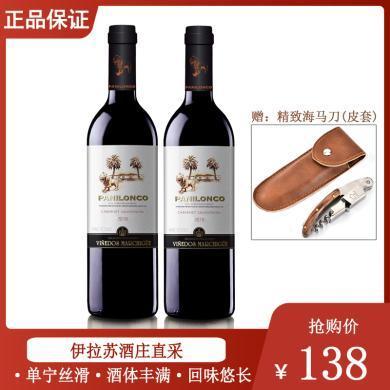 紅酒酒莊直供 原瓶進口紅酒 智利雄獅赤霞珠干紅葡萄酒 2018年 750ml*2 兩支裝【送開瓶器/海馬刀】