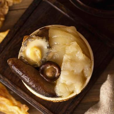 崇鮮 佛跳墻加熱即食海參鮑魚方便速食海鮮半成品私房菜240g*3 罐裝