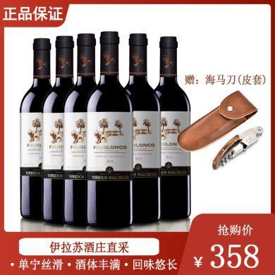 紅酒酒莊直供 原瓶進口紅酒 智利雄獅赤霞珠干紅葡萄酒 2018年 750ml*6 整箱裝【送開瓶器/海馬刀】