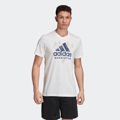adidas短袖T恤男纯棉T恤休闲T恤夏季2020新款运动T恤圆领T恤短袖男T恤体恤FM5573