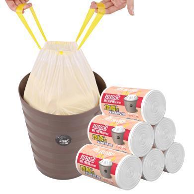 美丽雅(MARYYA)免撕束口穿绳拉拉袋一袋多用轻巧便捷可做垃圾袋可收纳