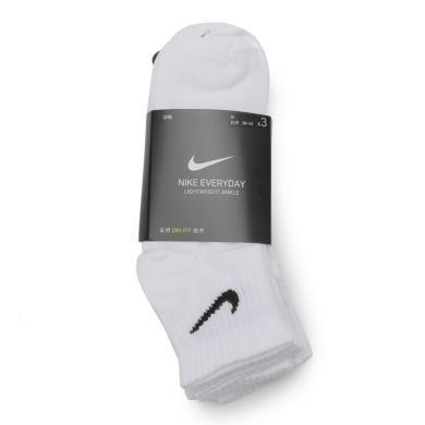 Nike耐克2020年新款中性U NK EVERYDAY LTWT ANKLE 3PR袜子优惠装SX7677-100