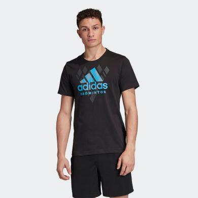 Adidas运动T恤2020新款短袖T恤圆领运动T恤纯棉T恤速干运动服体恤衫宽松短袖衫圆领男夏短袖领短袖男生短袖体恤FM5574