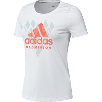 阿迪达斯T恤女子短袖T恤纯棉T恤白色T恤adidas棉T恤 FM5571