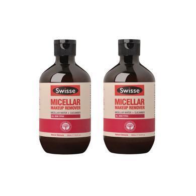 2瓶*澳洲Swisse小黃瓜溫和卸妝水300ml【香港直郵】