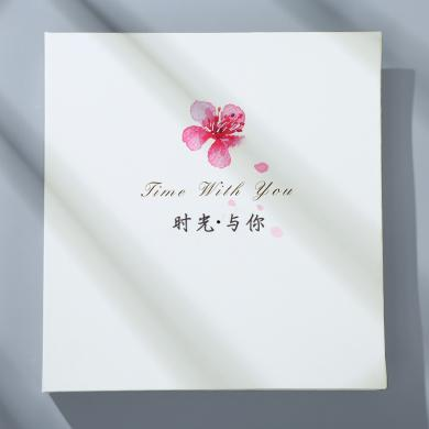 覆膜diy相冊pu皮面手工制作粘貼式夢相約影集自粘創意情侶紀念生日禮物