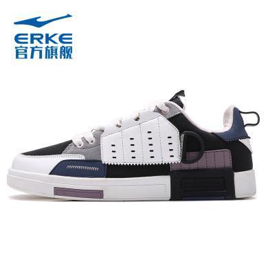 鴻星爾克板鞋女2020春季新款韓版百搭 學生休閑滑板鞋ins潮運動鞋 12120101203