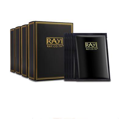 【支持购物卡】【4盒】RAYI芮一泰国黑金面膜 补水保湿收缩毛孔提亮肤色蚕丝官方面膜 10片/盒