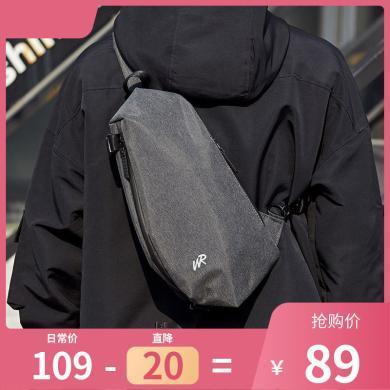 香炫儿(XIASUAR)男士休闲运动胸包单肩包男潮牌街头单肩斜跨小包斜跨包男3057