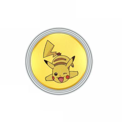 潮宏基 精靈寶可夢系列-皮卡丘 足金金幣 金重約-0.1g Q3G30000018