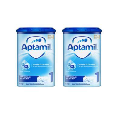 【2罐】德国Aptamil爱他美奶粉1段(0-6个月宝宝)800g/罐