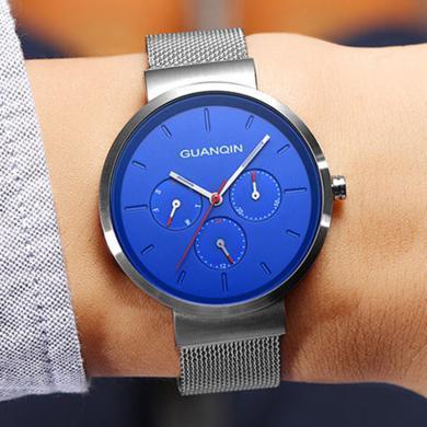 冠琴正品2020新款男士手表時尚潮流概念學生網帶手表男石英防水表