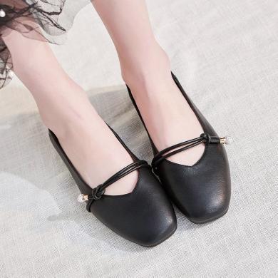 骆驼动感女单鞋新款时尚个性女休闲鞋复古浅口软底单鞋子 L012015014