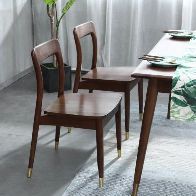 優家工匠 紅橡木餐椅餐廳吃飯椅書房休閑椅奢華餐桌椅組合家具