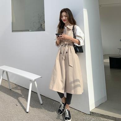 韓都衣舍2020春裝新款女裝韓版輕熟氣質時尚中長款馬夾女PS9585諨