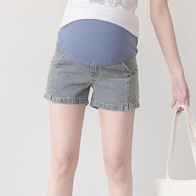 妃孕寶 孕婦褲夏季新款女裝辣媽牛仔褲潮媽高腰托腹褲寬松顯瘦直筒褲