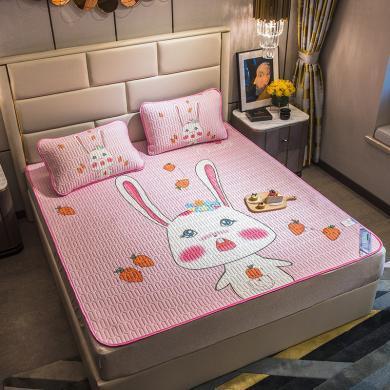 DREAM HOME 凉席三件套大版空调软席 卡通图案[含枕套] YJY921777-1