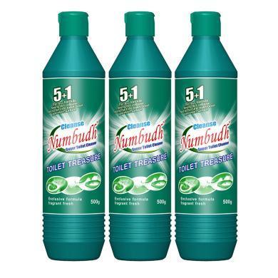 南堡Numbudh潔廁精馬桶清潔劑廁所衛生間除臭垢液靈500g*3瓶