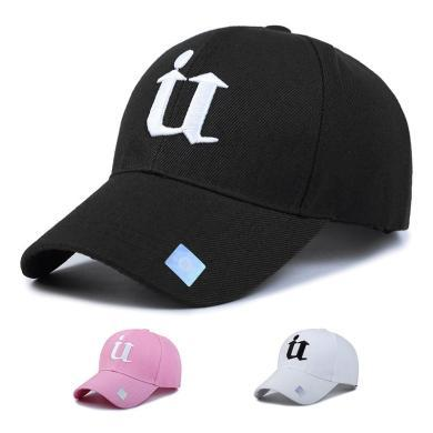 DAIYI戴奕帽子時尚男女同款U字樣四季棒球帽鴨舌帽