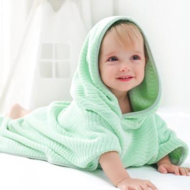春夏新品棉店寶寶浴巾洗澡巾多功能毛巾男女嬰幼童四季珊瑚絨網紅斗篷浴巾