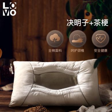 lovo決明子草本枕芯蕎麥護頸椎防螨抗菌學生枕頭羅萊生活旗下品牌