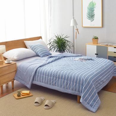 羽芯家紡  水洗棉夏被良品風雙面設計夏涼被空調被被子可機洗水洗