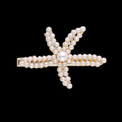 盈滿堂 日韓創意海星珍珠發夾劉海邊夾清新可愛頭飾發卡發飾