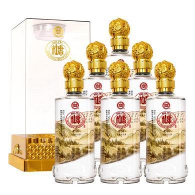 白水杜康 高度白酒 浓香型 新款U50 山水情 52度 500ml*6 整箱装(新老包装随机发货)