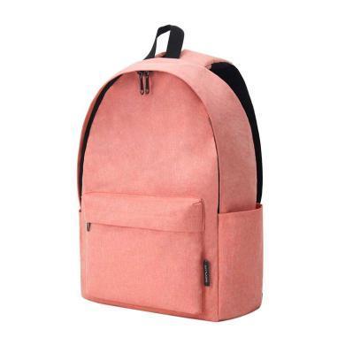 WEPLUS唯加 新品休閑時尚男女雙肩背包簡約通勤背包 WP1745 粉紅色
