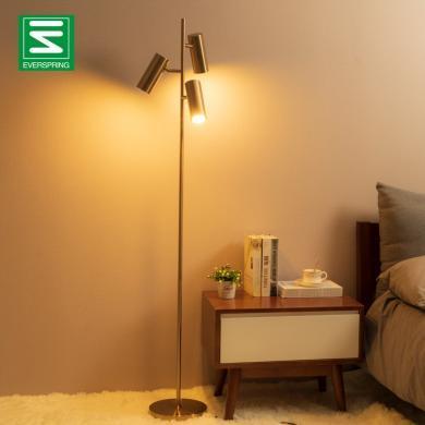 客廳落地燈LED沙發燈 后現代北歐臥室床頭燈簡約創意金屬落地臺燈