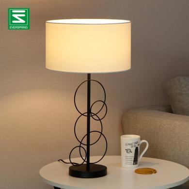 跨境北歐鐵藝簡約創意裝飾沙發客廳臥室床頭裝飾歐規個性照明臺燈