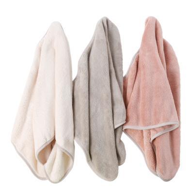 美丽雅(MARYYA)灰派包边超柔强吸水干发帽高吸水品质干发巾不易掉毛速干毛巾