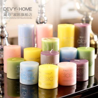 現代簡約家居裝飾蠟燭臺北歐小擺件擺設 情人節婚慶餐桌香薰蠟燭