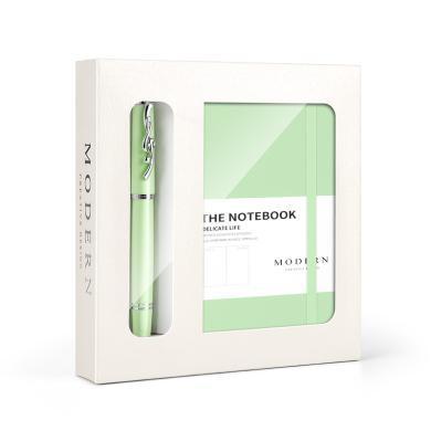 德國MODERN馬卡龍寶珠筆筆記本套裝簽字筆高檔記事本學生禮品定制