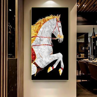 入戶玄關裝飾畫走廊過道墻壁畫豎版掛畫現代簡約招財風水畫北歐掛畫有框畫