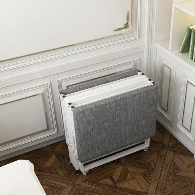 雅客集卡瑞娜折疊床(特大號100cm)FB-20329  書房辦公室午休床 便攜四折床 陪護床 單人床