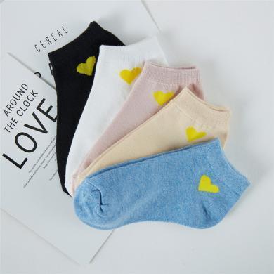 【五雙裝】新款女士船襪女襪子夏季淺口可愛日系短筒襪薄款舒適透氣可愛短襪AK2080