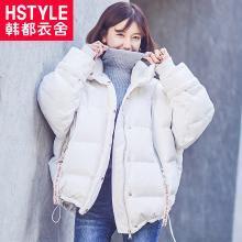 韩都衣舍2018冬装新款女装韩版学生宽松外套羽绒服JW12565筱0815
