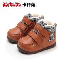 卡特兔2018冬季新品冬宝宝机能鞋0-1-2-3-5男女童短靴婴儿防滑靴