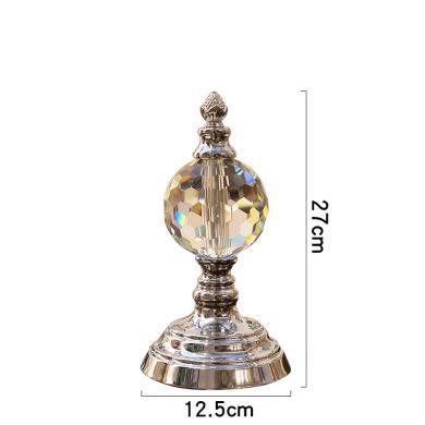 DEVY 簡約現代創意水晶擺件 歐式家居客廳玄關書房軟裝飾品擺設