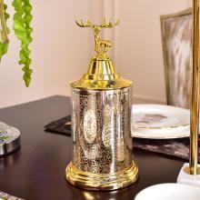 DEVY欧式创意储物罐玻璃器皿摆件美式收纳罐家居样板房装饰品摆设