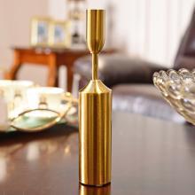 DEVY 欧式创意家居金属烛台摆件美式时尚餐桌装饰品烛光晚餐摆设