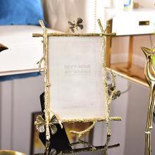 DEVY欧式轻奢金属组合相框创意照片挂墙婚纱照摆台相架相框6寸7寸